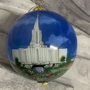 Jordan River Utah Temple Glass Ornament LDS Mormon